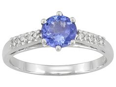 .95ct Round Tanzanite With Round Diamond Accent 10k White Gold Ring Erv $379.00 - TEM120 - JTV.com®
