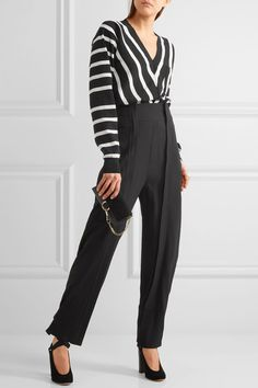 Chloé - Striped Cotton Sweater - Black - small