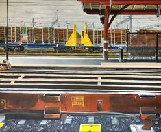 Oil on canvas. 100 x Oil On Canvas, Cool Pictures, Fair Grounds, Paintings, Train, Fun, Paint, Painted Canvas, Painting Art