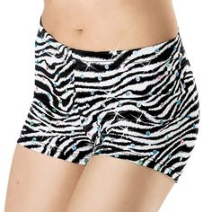 Zebra Print Dance Shorts - Balera - Product no longer available for purchase Dance Outfits, Cool Outfits, Fashion Outfits, Dance Shorts, Sport Wear, Zebra Print, Dance Costumes, Dance Wear, Leotards