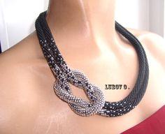 """Жгут """"Классический""""    biser.info - всё о бисере и бисерном творчестве Bead Crochet Rope, Beaded Crochet, Crochet Necklace, Bracelets, Necklaces, Great Gifts, Chain, Beads, Beadwork"""