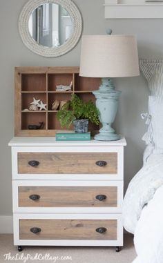 ikea tarva 3-drawer dresser hack white moulding stain nightstands casters