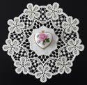 10612 Battenburg lace doily machine embroidery