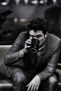 Robert Pattinson…. The only person in the world that can make drinking from a cup look like porn
