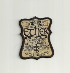 Hey, I found this really awesome Etsy listing at https://www.etsy.com/listing/192216759/apothecary-ether-patch