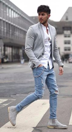 Mens fashion smart - 30 best cool fall fashion outfits for men 2019 33 Fall Fashion Outfits, Mens Fashion Suits, Fashion Night, Casual Outfits, Autumn Fashion, Travel Outfits, Blazer Outfits Men, Trendy Fashion, Black Men Casual Fashion