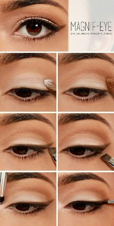 Eye enlarging makup
