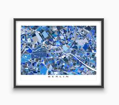 Do you love Berlin Germany? Then this Berlin map art print will be great on your…