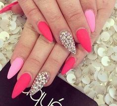 Pink with stones