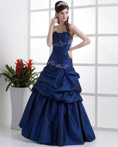 Taffeta Ruffle Floor Length Quinceanera Prom Dress  Read More:     http://weddingspnina.com/index.php?r=taffeta-ruffle-floor-length-quinceanera-prom-dress.html