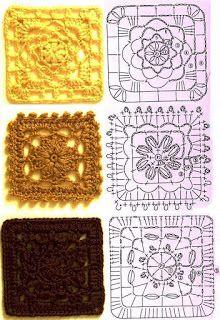 varie mattonelle | Hobby lavori femminili - ricamo - uncinetto - maglia