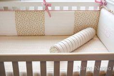 Protetor de Berço CARLA | Ninna Nanna  - Enxoval de Bebê | 232D01 - Elo7