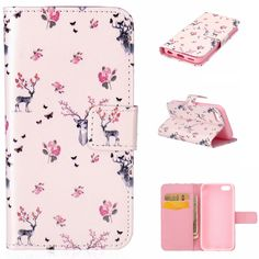 For Apple iPhone 5C Hot Wallet Flip PU Leather Magnetic Case with Card Holder Smart Stand Skin Bags Case Cover
