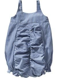 Striped Bubble Rompers for Baby