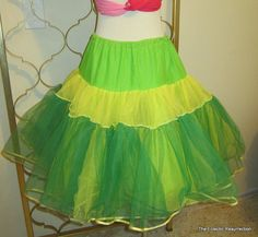 Vintage Neon Lime Green Crinoline Tulle One Size Fits by linbot1