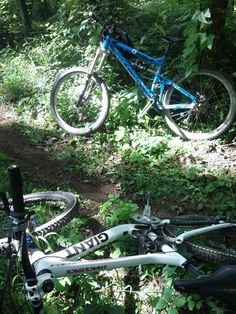 Out in the trails... waiting to ride!
