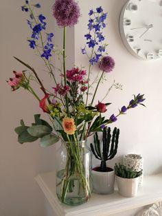 bloomon #gladiool #delphium #campanula #allium #gentiana #clarkia godetia #germini