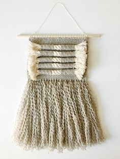 Your place to buy and sell all things handmade Loom Weaving, Tapestry Weaving, Hand Weaving, Textiles, Woven Wall Hanging, Cotton Rope, Knitting Yarn, Wall Design, Fiber Art
