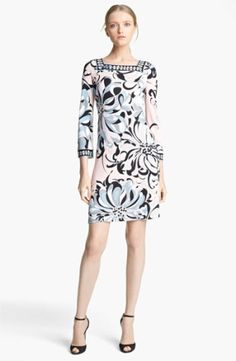 afd58ac03ad41 Emilio Pucci Floral Print Jersey Shift Dress available at