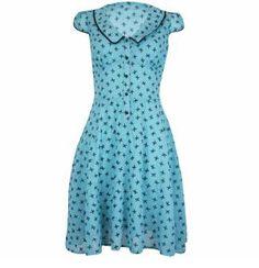 Voodoo Vixen Rowena Ribbon Tea Dress size Large £40.99