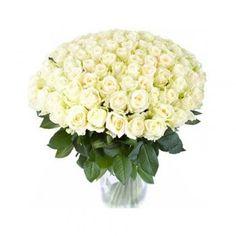 Kytica 101 bielých ruží