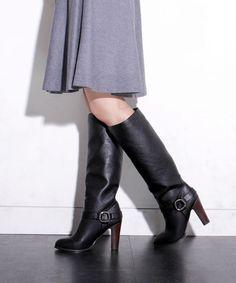 Nano・universe Fレザーリングベルトブーツ / knee high leather boots on ShopStyle