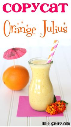 Orange Julius Copycat Recipe! ~ from TheFrugalGirls.com - you'll love this easy drink recipe for the perfect copycat smoothie! So YUMMY! #recipes #thefrugalgirls
