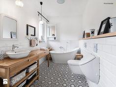 Dom jednorodzinny w Redzie - Duża łazienka, styl skandynawski - zdjęcie od PracowniaPolka