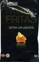 "Patatas fritas lisas ""Hacendado"" Extra crujientes - Producto"