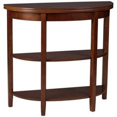 Marisol Demilune Walnut Console Table. I need this to drop my keys and etc. when I come in.