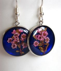 Real pressed flower jewelry