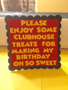 Mickey Mouse Birthday Party. Mickey Mouse Sign. by LCreations3