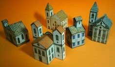 Toys In The Attic - by Papermau - Desktop Architecture - Series 04 Brazilian Colonial Churches  ==          Here five simple paper models of  Brazilian Colonial Churches to decorate your desktop. Enjoy!