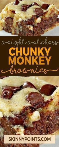 Chunky Monkey Brownies – Weight watchers Freestyle Smart Points Friendly Source by Dessert Weight Watchers, Plats Weight Watchers, Weight Watchers Meals, Weight Watchers Brownies, Ww Recipes, Brownie Recipes, Cookie Recipes, Recipies, Simple Recipes