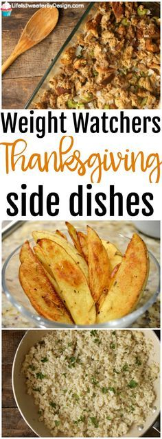 Weight Watchers Thanksgiving Side Dishes will help you stay on plan during the big holiday meal. Healthy side dish recipes are the way to go! Find recipes that lighten your favorite recipes. Healthy Sides, Healthy Side Dishes, Side Dish Recipes, Ww Recipes, Dishes Recipes, Skinny Recipes, Turkey Recipes, Weight Watchers Sides, Sweets