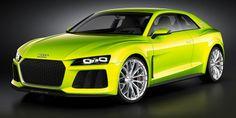 #Audi #SportQuattro #Laser #Headlights #PlugInHybrid #Concept
