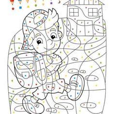 kostenlose malvorlage malen nach zahlen: fische ausmalen zum ausmalen | coloring pages | malen