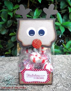 Created by Candace using Christmas Wishes, Fancy Topper Die, Curly Label Die and gusset bag. http://jadedblossom.bigcartel.com/