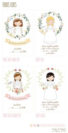 Recordatorios Primera Comunión personalizados para niñas Cookie Images, Communion Invitations, Girl Themes, Diy Presents, Flower Clipart, Ideas Para Fiestas, First Holy Communion, Crafty Craft, Christening
