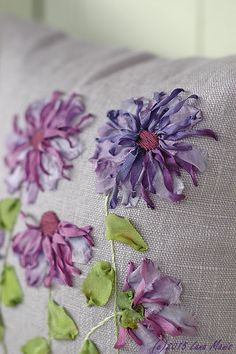 lovely silk ribbon embroidery pillows - one of 8 picks for this week's Friday Favorites
