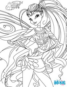 Stella, transformation Bloomix coloring page