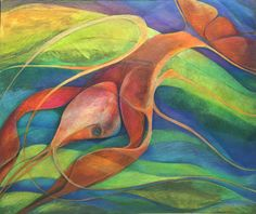 #river_lobster 2 , mix media on cold press illustration board. Prismacolor verthin color pencil and watercolor