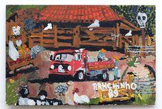Ranchinho (Sebastião) - 1989  Caminhão de leite  Óleo sobre Tela | Eucatex  42 x 62 cm