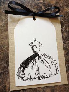 Bridal Shower/Wedding Shower Invitation or Invite with Envelope - Classy/Elegant/Vintage/Rustic. $2.25, via Etsy.