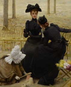 Conversation at the Luxembourg Garden Vittorio Matteo Corcos (been born on October 1859 in Livorno, died to Florence on November is an academic painter and a Italian portrait painter. He stays in Paris from 1880 till 1886 Giovanni Boldini, Italian Painters, Italian Artist, Belle Epoque, James Joseph, Rudolf Von Alt, Die Stämme, John William Godward, Beaux Arts Paris