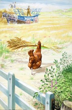 Carrying wheat - Little Red Hen - Robert Lumley - Ladybird Book