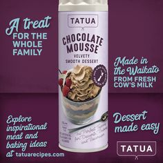 Dessert made easy! Mousse, Chocolate, Baking Ingredients, Cookie Dough, Make It Simple, Beverages, Treats, Easy, Desserts