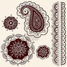 Floral Paisley Paisley Pattern Abstract Art Design Funky Groovy Henna Indian Mehndi Mhendi Paisley Pattern Sixties Swirl Images, Stock Pictu...