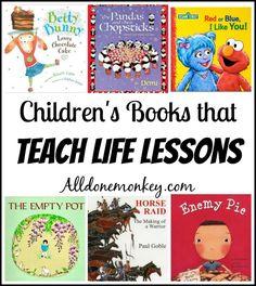 Children's Books that Teach Life Lessons | http://Alldonemonkey.com