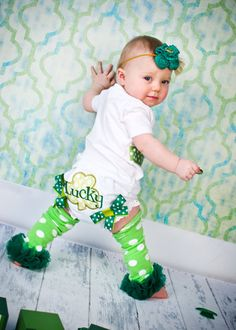 St Patrick's Day Lucky Bloomers Irish Shamrock by whimsytots, $22.50
